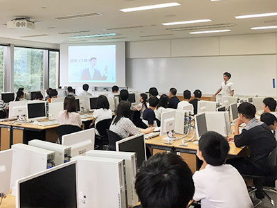岡野光洋講師による授業体験