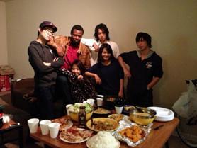 Masahiro 留学生たちと