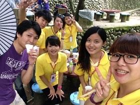 Yuki Takai with friends