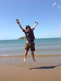 Tomo at the beach 2