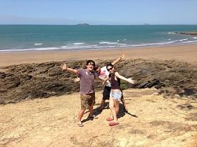 Tomo at the beach