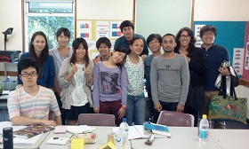 Tomo with friends