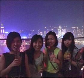 Akane with friends