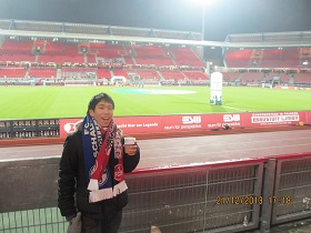 Nari at the stadium