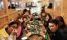 Kenta with friends
