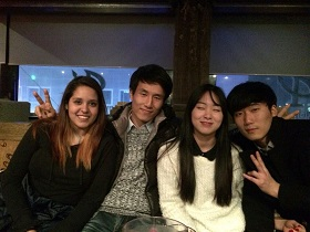 Rika with friends
