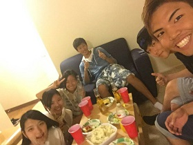 Masashi with friends