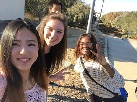Ikumi with friends