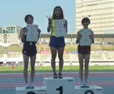 中新井美波選手 表彰台